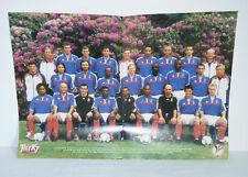 Affiche/Poster équipe de France - Euro 2000 Fooball - Très bon état - Télé K7