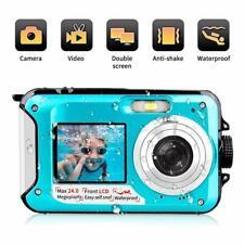 Dual Action Camera 24MP Underwater Full HD Waterproof Digital Two Screens Record
