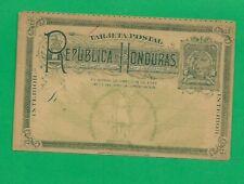 Honduras, Ganzsache  POST CARD  2 centavos, NEVER USED
