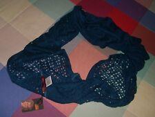 bufanda scarf cerrada Luna Nueva azul turquoise con variedad de punto nuevo etiq
