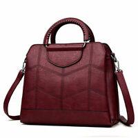 Women Ladies Leather Shoulder Bag Tote Purse Handbag Crossbody  Designer