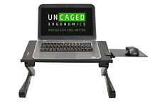 WorkEZ BEST Adjustable Height Tilt Ergonomic Aluminum Laptop Stand Lap Desk bed