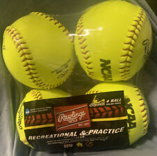 Rawlings Recreational and Practice Softballs 4 Pack 12U