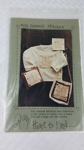 1997 Heart To Hand Patterns #132 SEASONAL STITCHES Button-on scenes  NEW uncut