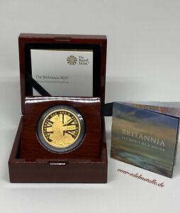 """2020 """"BRITANNIA"""" 2 Unzen (2 oz) Goldmünze, Polierte Platte, Limited Edition 150"""
