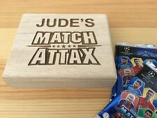 Personalised Engraved Wooden Match Attax Card / Trading Card Box Attacks