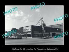 OLD POSTCARD SIZE PHOTO OKLAHOMA CITY OK USA THE PLYMOUTH CAR DEALER c1950