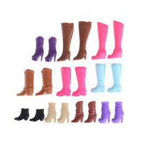Colorful Boots Casual High Heels Barrel Cute Shoes Clothes For  Doll