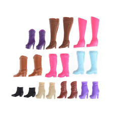 Colorful Boots Casual High Heels Barrel Cute Shoes Clothes For Barbie Doll HT
