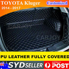 PU Leather Car Rear Boot Liner Protector Cargo Mats Toyota Kluger 2014 - 2018