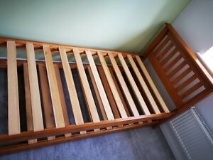 Solid Oak John Lewis Bed With Pull Out Truckle Trundle Guest Bed NO MATTRESS