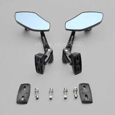 Black Aluminum Rearview Side Mirrors Motorcycle Sports Street Bike Custom Racing