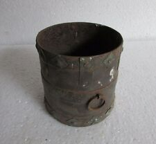 Vintage Old Hand Crafted Iron Grain Measurement Pot Collectible