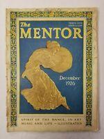 ANTIQUE ~ The Mentor Magazine ~ December, 1926 ~ Volume 14 ~ Number 11