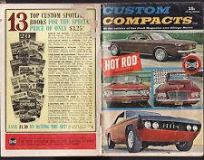 CUSTOM COMPACTS 1964 - CAR CRAFT MAGAZINE & GEORGE BARRIS   cz