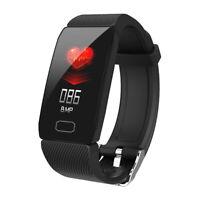 1.14'' OLED Montre Intelligent Cardiofréquencemètre Podomètre Bracelet Connecté