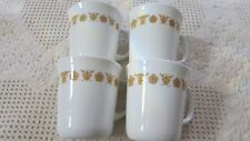 Corelle Corning BUTTERFLY GOLD  coffee/tea cups of 4, 2 sets avail Never Used