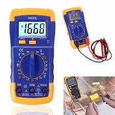 Digital LCD Multimeter Voltmeter Ammeter OHM AC DC Circuit Volt Tester Checker
