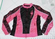 HARLEY DAVIDSON Riding Jacket - Women's Size S - PINK Motorcycle Gear Full Zip