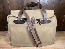 Filson Vintage Large Computer Briefcase Bag 257 - Amazing Patina! Talon Zippers