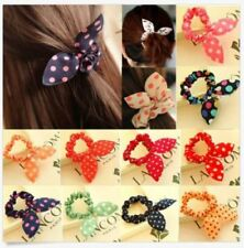 10pc Women Elastic Bow Rabbit Bunny Ear Hair Band Rope Scrunchie Ponytail Holder