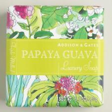 Addison & Gates PAPAYA GUAVA Luxury Soap---Lot of Two Bars---Free Shipping!