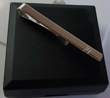Sterling Silver Mens Solid Real Diamond Tie Slide/Clip Bar. 4.4g. Box Included.