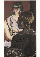 Kunstkarte: Max Beckmann - Quappi und ein Inder