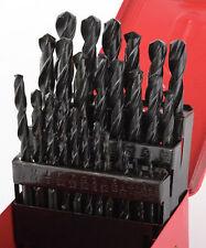 New 29-Pc Drill Bit Set High Speed Bits Steel Drill Bits w/ Metal Index Box