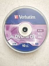 8 x 8.5GB Verbatim DVD+R DL Dual Layer Discs - Spindle Pack