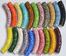 15pcs/lot 45mm mixed disco pave clay bracelet DIY crystal shamballa beads tube