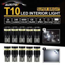 10X 24-SMD T10 168 194 CANBUS LED Car Bulb License Plate Width Map Dome Light AU