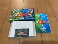 Gameboy Advance The Legend of Zelda A link to the Past / Four Swords Box Manual