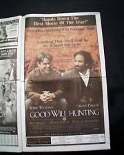 Best GOOD WILL HUNTING Film Movie Opening Day AD Review 1997 L.A. CA Newspaper