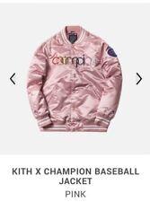 Kith x Champion Baseball Bomber Jacket Pink NWT Sz M
