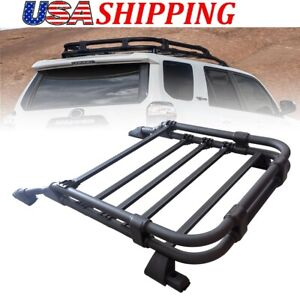 TATA.MEILA for Toyota 4Runner 05-20 Black Roof Rack Basket Baggage Luggage Cargo