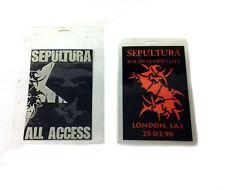 Lot of 2 SEPULTURA Backstage Passes Death Thrash Metal Music Memorabilia, RARE