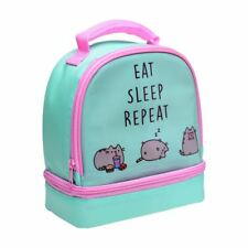 Pusheen The Cat 2 Compartment Insulated School Lunch Bag Eat Sleep Repeat