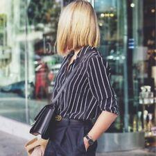 NWT Equipment Essential Stripe Silk Shirt Blouse Black/White Size XS, S, M $278