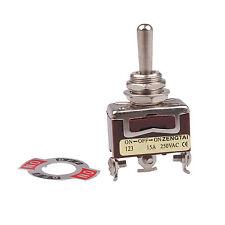 3-Pin Interruptor ON-OFF-ON Interruptor Momentáneo 15A 250VAC