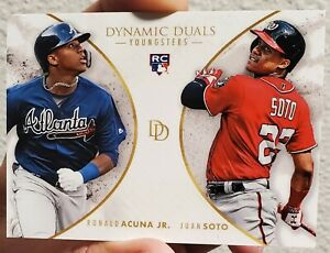 RARE 2018 Topps On Demand Dynamic Duals Ronald Acuna Jr. Juan Soto ROOKIE RC
