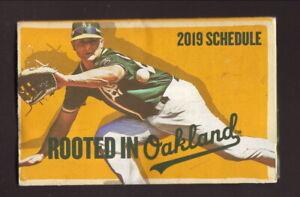 Matt Chapman--Oakland Athletics--2019 Pocket Schedule--KHTK