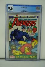 MARVEL COMICS CGC 9.6 AVENGERS #136 6/75 WHITE PAGES