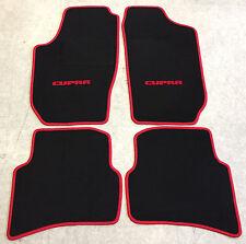 Autoteppiche Fußmatten für Seat Ibiza Cupra 6L 2002-2008 schwarz rot 4teilig Neu