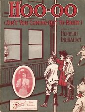 HOO -OO Ain't You Coming Out Tonight? 1908 BASEBALL Cover Sheet Music !