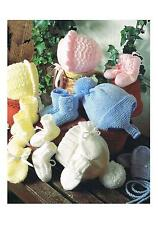 Premature Baby Hats Bonnets Mitts Bootees Knitting Patterns 0/12 months DK ±sc42