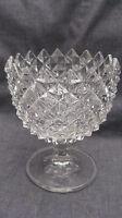 EAPG Early American Pattern Glass Sawtooth Sugar Bowl on  Plain Standard