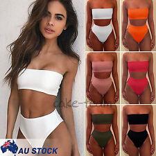 Women Brazilian Padded Push-Up Bra High Waist Bikini Bandage Swimsuit Swimwear