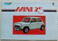 MINI 25 Car Sales Brochure 1984 #3626 AUSTIN ROVER