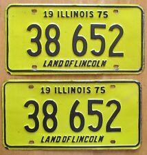 Illinois 1975 License Plate PAIR # 38 652